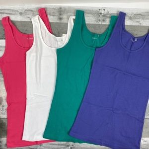 Nordstrom Caslon ribbed stretch tank top large